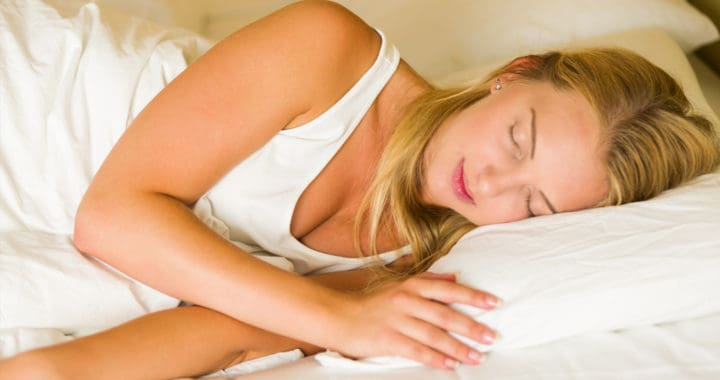 woman sleeping on white sheets to your health nutrition